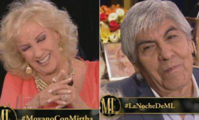 Mirtha Legrand y Hugo MOyano