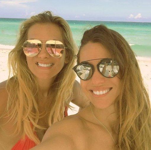 Pampita en Miami con su amiga, la mujer de Ivan Zamorano