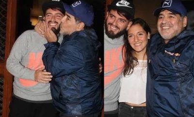 Diego Maradona y jr