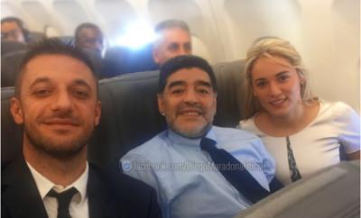 Maradona y Rocio OLiva