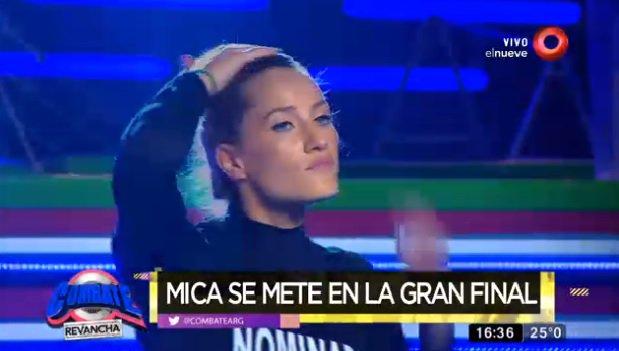 """Mica Viciconte abandonó la final de """"Combate, se fue lastimada"""