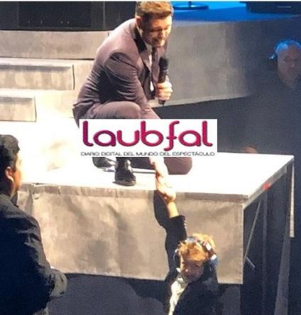 La emoción de Michael Bublé con su hijo Noah