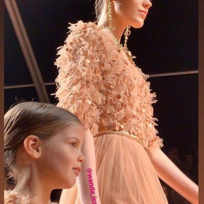 Francesca Icardi debutó en la pasarela de Milan