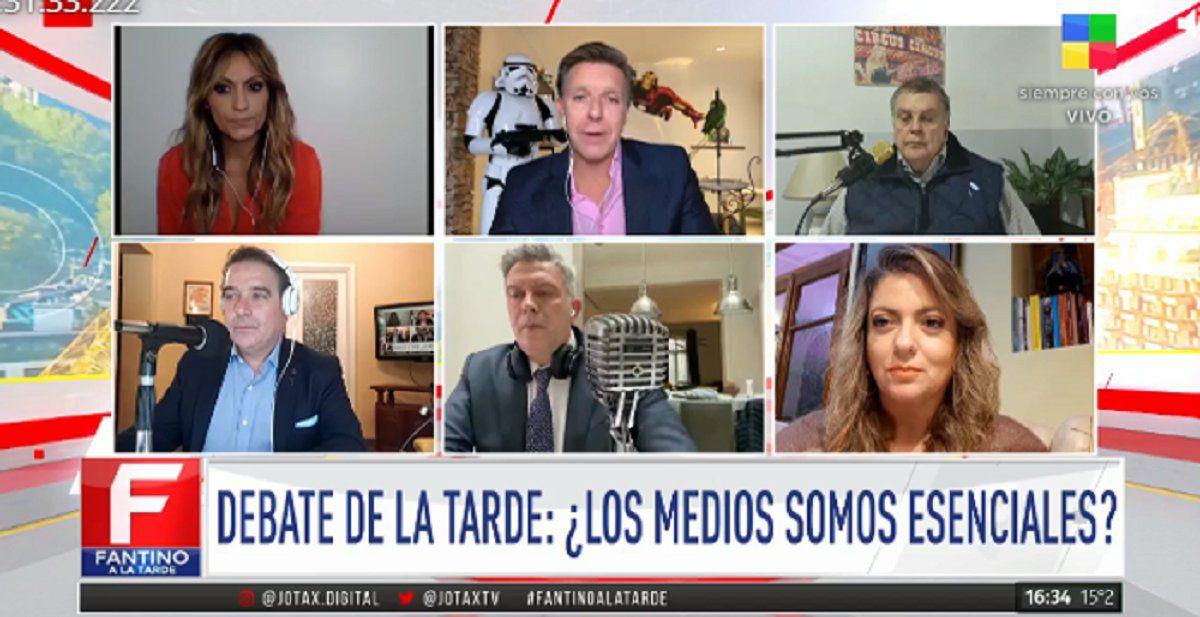 Panelistas de Fantino: Marcela Tauro negativo, D´Alessandro positivo