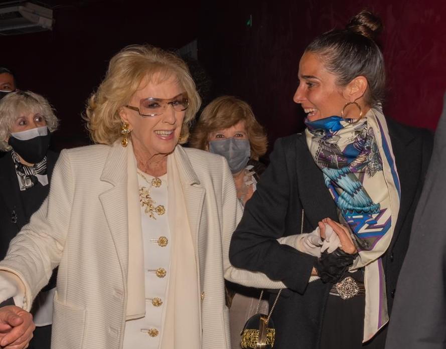 Mirtha Legrand fue al teatro con Juanita